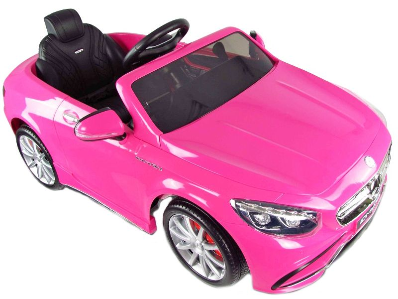 mercedes s63 amg kids electric cars official replica toy 12v motorised sit and ride on toy pink